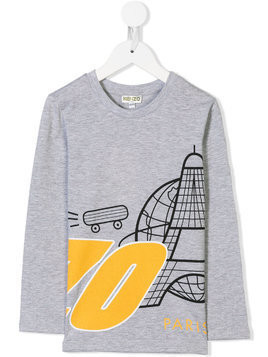 Kenzo Kids Space Paris T-shirt - Grey