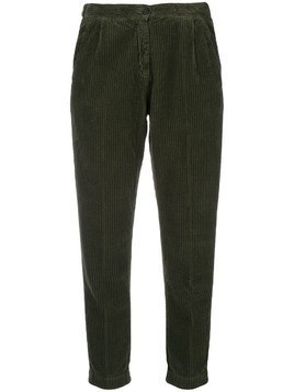 Massimo Alba corduroy cropped trousers - Green