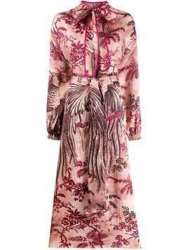 F.R.S For Restless Sleepers bird print dress - PINK