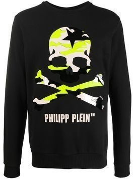 Philipp Plein camouflage skull relaxed-fit sweatshirt - Black