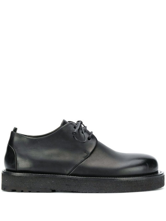 Marsèll platform sole derby shoes - Black