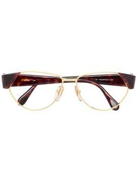 Missoni Pre-Owned oval frame glasses - GOLD