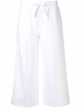CK Calvin Klein Spacer cropped track pants - White