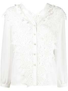 Jovonna Alta lace panel shirt - White