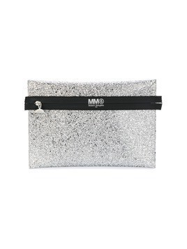 Mm6 Maison Margiela contrast clutch bag - Metallic