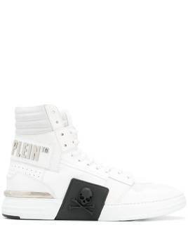 Philipp Plein Phantom Kick$ hi-top sneakers - White