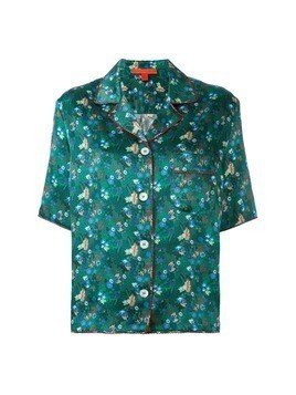 Hilfiger Collection floral print shortsleeved shirt - Green