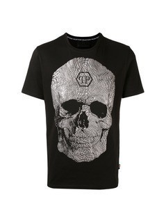 Philipp Plein textured skull T-shirt - Black