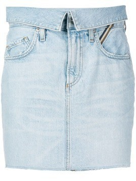 Jean Atelier denim mini skirt - Blue