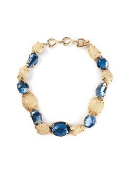 Yves Saint Laurent Vintage crystal embellished necklace - Metallic