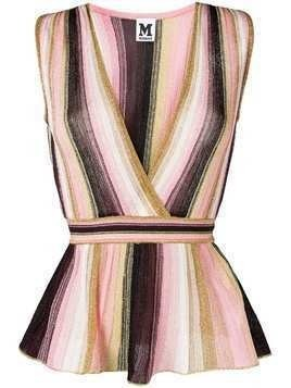 M Missoni striped V-neck top - Pink