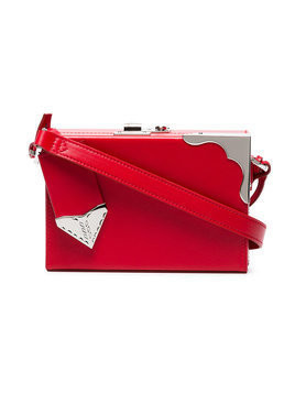 Calvin Klein 205W39nyc - red mini leather box clutch - Damen - Leather - One Size