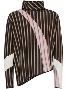 Kiko Kostadinov Rex striped jumper - Brown