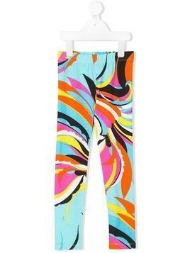 Emilio Pucci Junior abstract print trousers - Blue