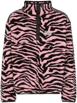 Ashley Williams JuJu tiger intarsia fleece - Pink