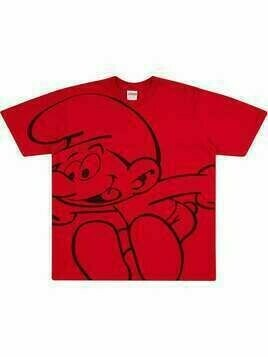 Supreme Smurfs-print T-shirt - Red