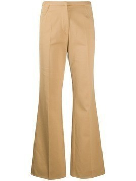 Courrèges flared fitted trousers - Brown