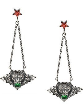 Iosselliani Leo Head Puro earrings - SILVER
