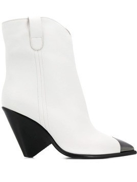 The Seller metallic toe ankle boots - White