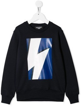 Neil Barrett Kids printed sweatshirt - Blue