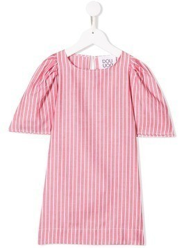 Douuod Kids Boston striped dress - Pink