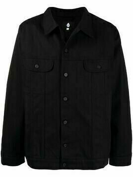 DUOltd button-front denim jacket - Black