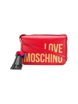 Love Moschino logo print crossbody bag - Red