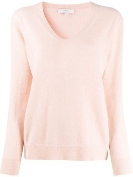 Vince Weekend cashmere v-neck jumper - PINK
