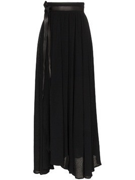 Caravana wrap maxi skirt - Black