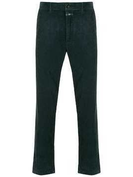 Closed cropped corduroy trousers - Blue