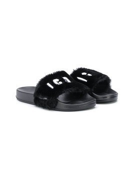 Dsquared2 Kids 'Icon' sliders - Black