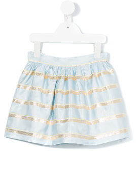 Hucklebones London Sweetie stripe gathered skirt - Blue