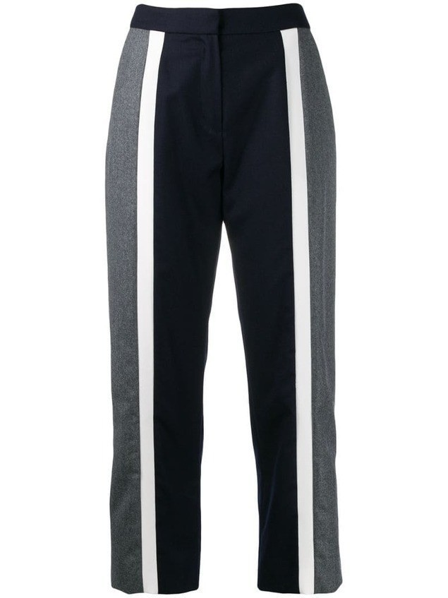 Kenzo flared cropped trousers - Blue