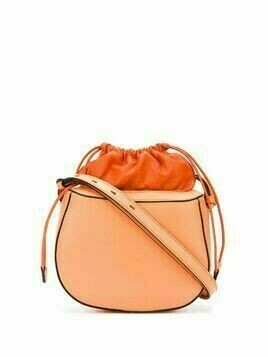 Stée pouch top leather shoulder bag - ORANGE