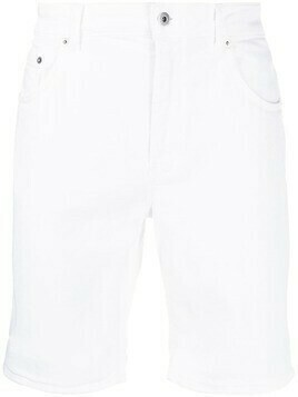 Dondup turn-up hem denim shorts - White