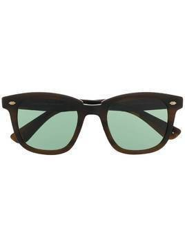 Garrett Leight Calabar square frame sunglasses - Brown