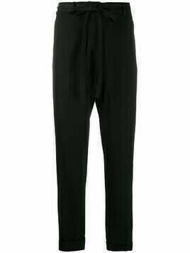 Ann Demeulemeester tied-waist tapered trousers - Black