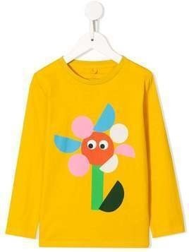 Stella McCartney Kids flower-print T-shirt - Yellow