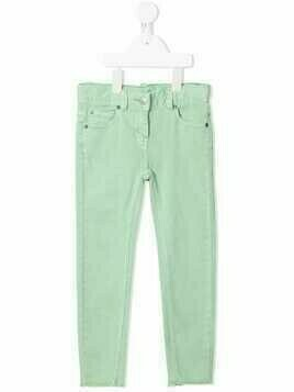 Stella McCartney Kids raw-hem skinny jeans - Green