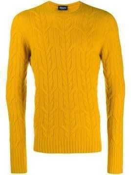 Drumohr cable-knit jumper - Yellow