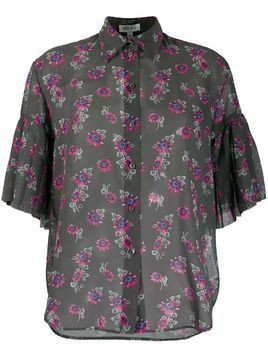 Kenzo Passion Flower sheer shirt - Green
