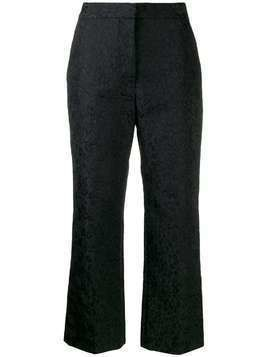 Stella McCartney leopard jacquard cropped trousers - Black