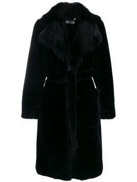 Desa 1972 oversized collar fur coat - Black