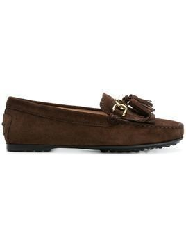 Tod's TOD'S XXW0LU0AA90RE0 S611 Leather/Fur/Exotic Skins->Calf Suede - Brown