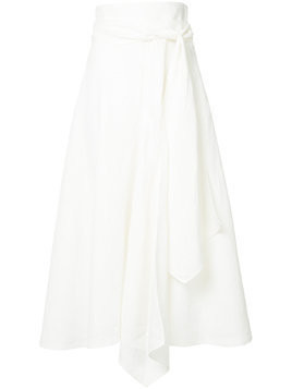 Flow The Label side flare skirt - White