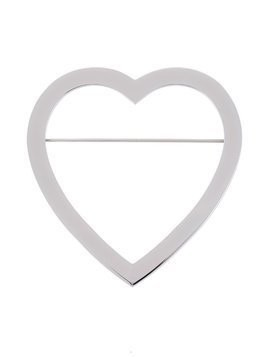 Givenchy heart shaped brooch - Metallic