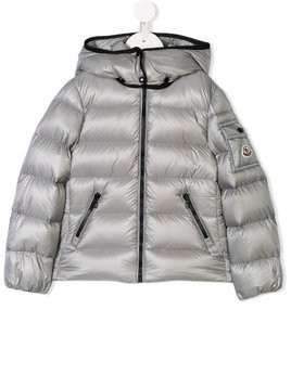Moncler Kids hooded down jacket - Grey