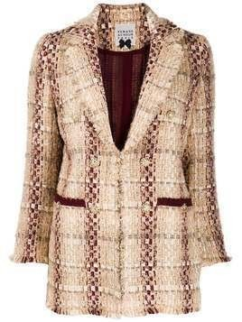 Edward Achour Paris bouclé embroidered tweed blazer