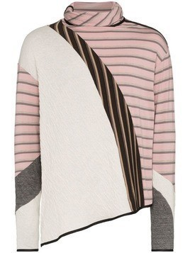 Kiko Kostadinov Rex striped roll-neck jumper - PINK