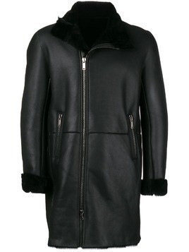Al Duca D'Aosta 1902 zipped midi coat - Black